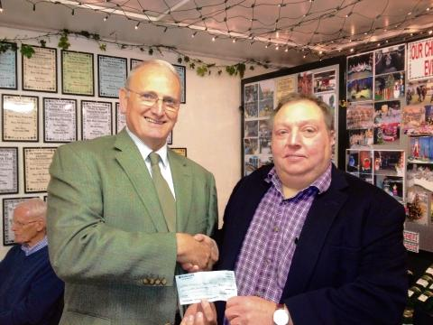 Maldon: Club donates £600 to charity