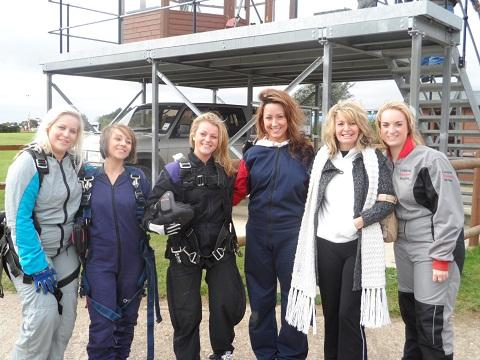 Maldon: Beauties' sky dive raises thousands for burns charity