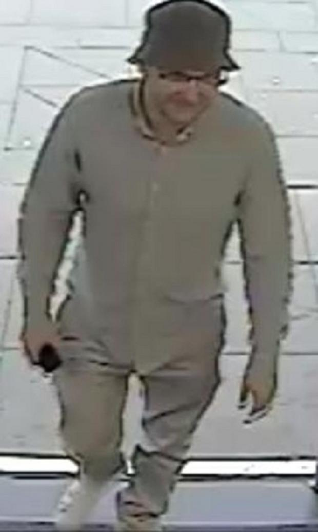 Police have released this CCTV image of the man in question