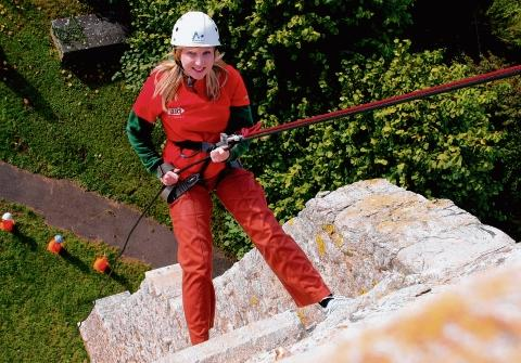 Burnham: Daredevil reporter scales church for charity