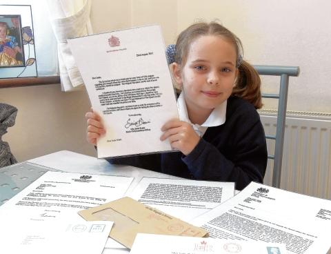 Maldon: Eight-year-old's war letter receives royal response
