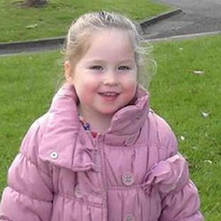 Skye Allen, aged two, who died in a fatal house fire in Prestatyn, North Wales
