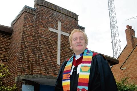 The Rev Dr Jon Morgan has not reached his funding target for an arts academy