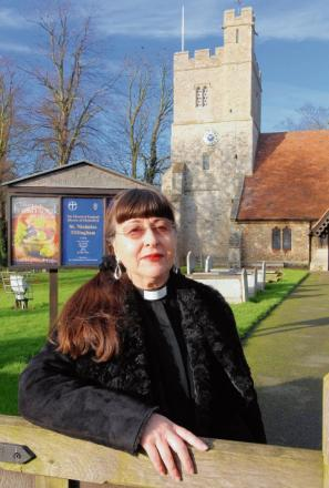 The Rev Lorna Smith, of St Nicholas' Church, Tillingham