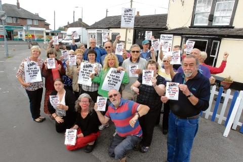 Protestors at the site of a proposed Tesco store in Wantz Road, Maldon