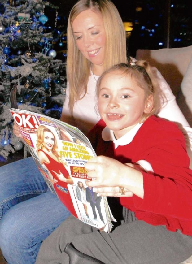 Honey Lock, who was featured in OK! magazine, with mum Rebecca