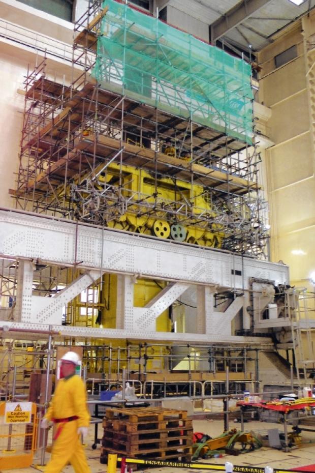 Maldon and Burnham Standard: Inside Bradwell power station.