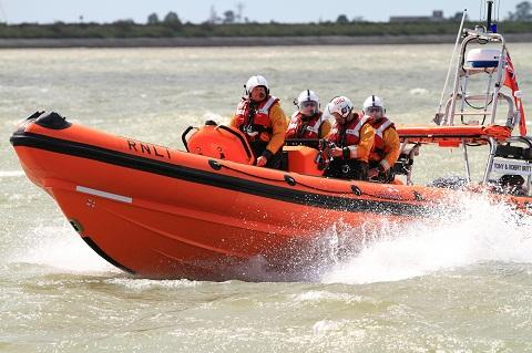 Maldon and Burnham Standard: Lifeboat crews in action
