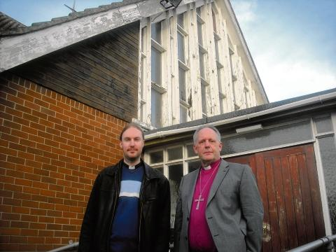 Bishop of Bradwell John Wraw, on the right, will be performing in a play about the Easter story