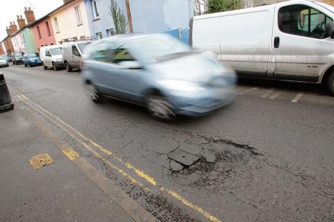Maldon: Cars and properties damaged by hazardous road crater