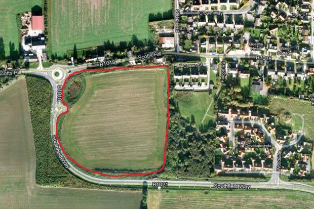 Land earmarked for new homes.