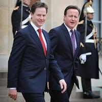 David Cameron has said he would be 'disappointed' if Nick Clegg voted in favour of a mansion tax