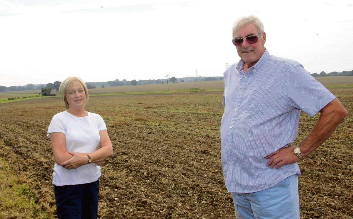 Garth and Gill Curtis are among those concerned about the plans