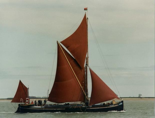 Centaur, one of the Thames Sailing Barge Trust's historic barges