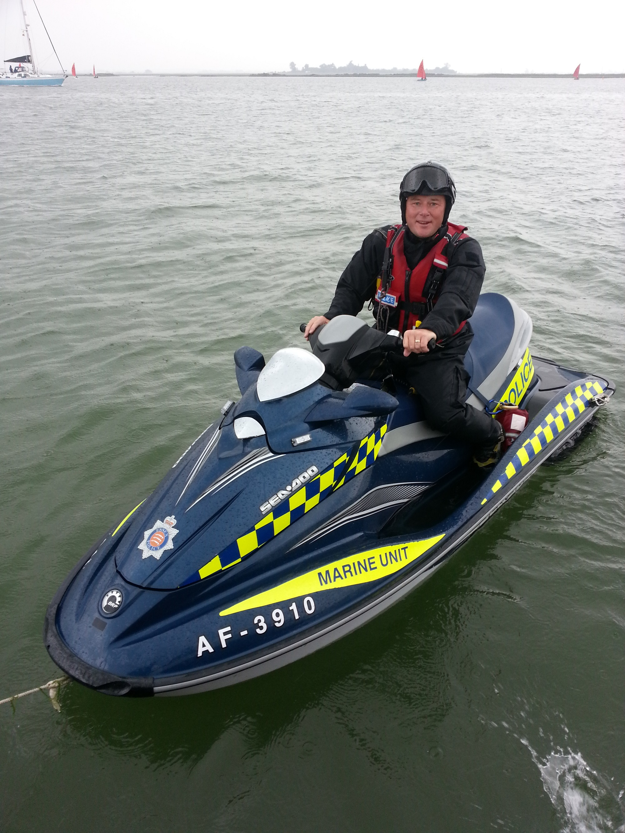 Marine police officer Simon Lofting