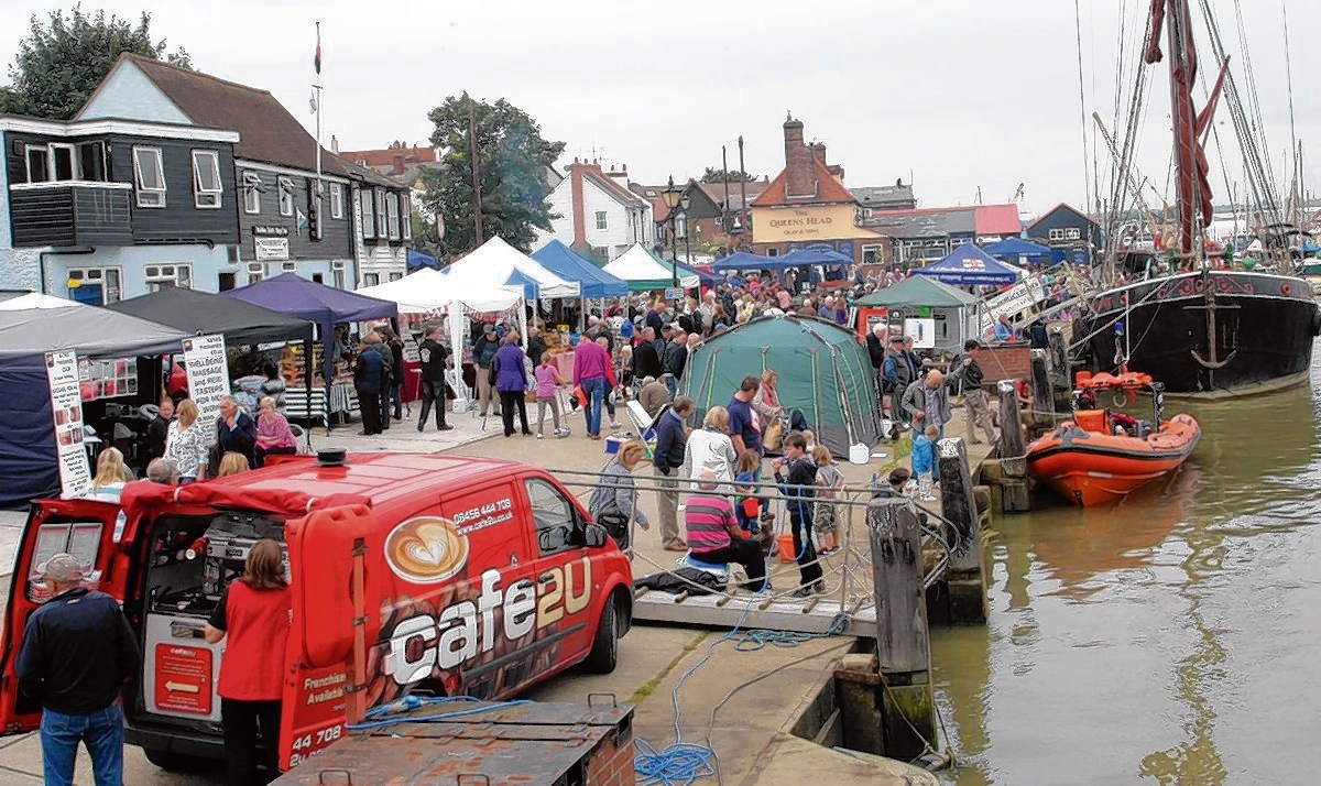 Stalls lined the Hythe Quay at last year's Maldon Town Regatta, one of the district's large events that attracts tourists