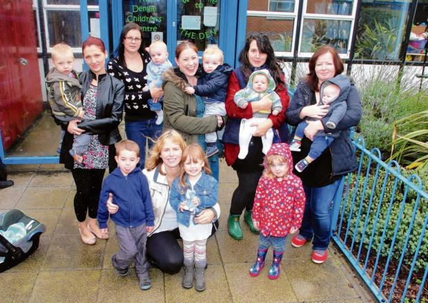 Maldon and Burnham Standard: Mums pictured outside the Dengie Children's Centre