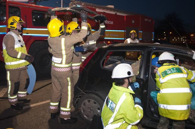 Drink drive crash scenario