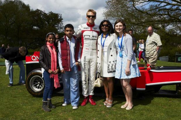 F1 driver Max Chilton at last year's show