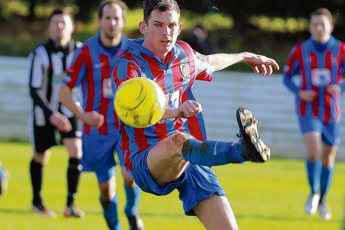 Maldon and Tiptree FC in action
