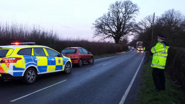 Police at one-car crash in Great Totham