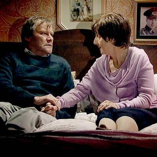 Hayley and Roy Cropper, played by Julie Hesmondhalgh and David Neilson
