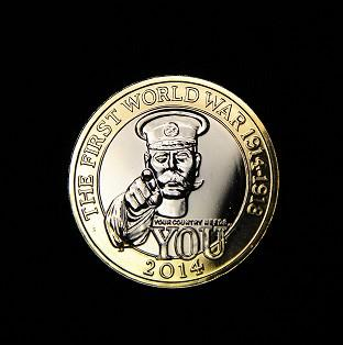 The Royal Mint's commemorative �2 coin shows an image of Lord Kitchener and the words 'Your c