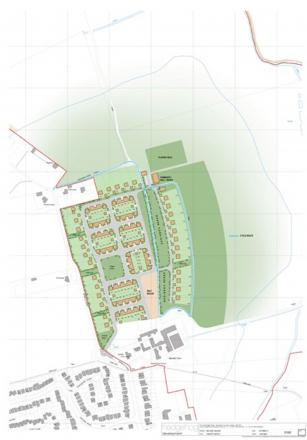 One of the designs shown to residents for a new estate in Mayland
