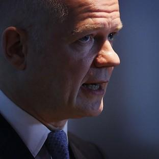William Hague said both sides in the Syria conflict 's
