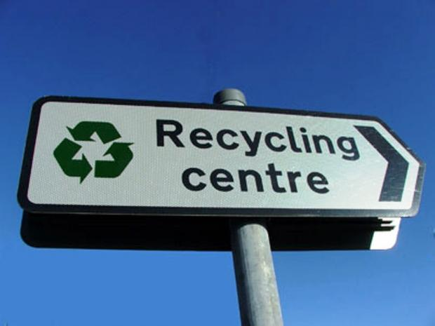 Recycling centres are under review