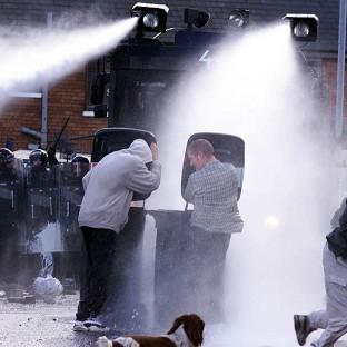 A briefing paper warns that water cannon is likely to be needed by police due to protests triggered by ongoing austerity measures
