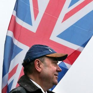 First Minister Alex Salmond said independence will also bring benefits to the north of England