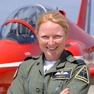 Maldon and Burnham Standard: Flight Lieutenant Kirsty Stewart, who became the first female pilot to join the Red Arrows, is to wed, according to reports (Royal Air/PA)