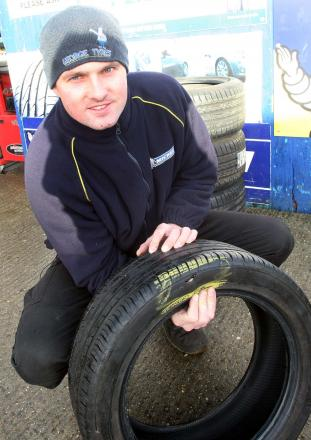 Christopher Boruch, who works at George Tyres in Maldon, said the company are reaping the benefits of potholes