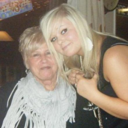 Amber Cogger with her nan Maureen Knight, pictured in 2010
