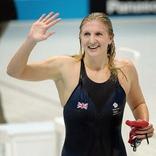Olympic medal-winning swimmers Becky Adlington and Michael Jamieson battled their way to a Guinness World Record 100 x
