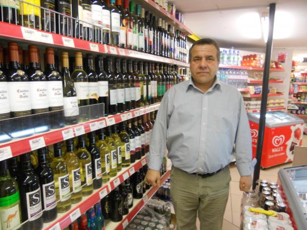 Mustafa Durmus inside the Maldon Express shop