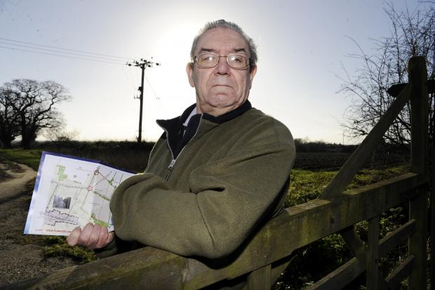 Concerned resident Richard Saward by the area which Gladman Developments want to build on