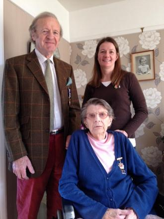 84-year-old Beryl Wareham with other volunteers Sholto Morton and Cathy Barber
