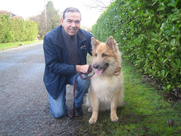 Peter Martin with Zach, a regular at Petpals