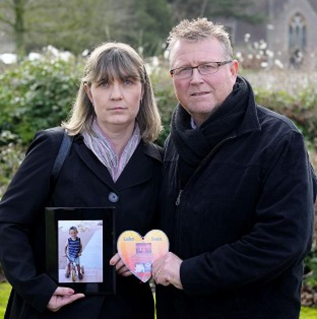 Maldon and Burnham Standard: Steve and Yolanda Turner, whose son Sean died from a brain haemorrhage after surgery at Bristol's Children Hospital
