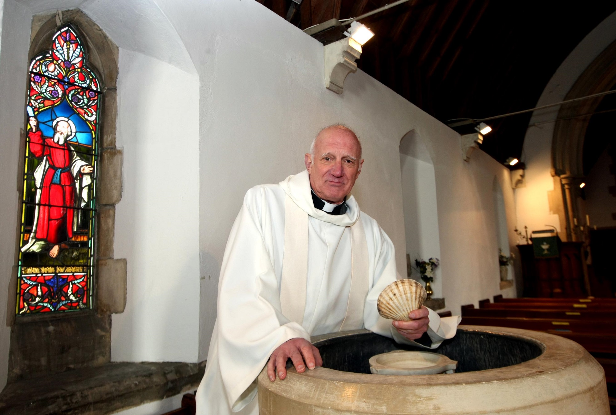 The Rev Ken Dunstan performed the ceremony at St Barnabas Church in Mayland