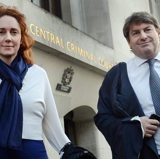 Maldon and Burnham Standard: Former News International chief executive Rebekah Brooks and her husband Charlie Brooks leave the Old Bailey as the phone hacking trial continues.