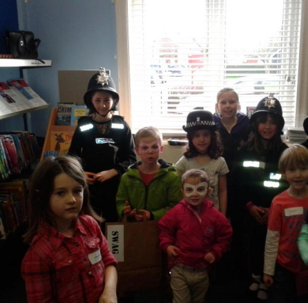 Children dressed up at Southminster Library