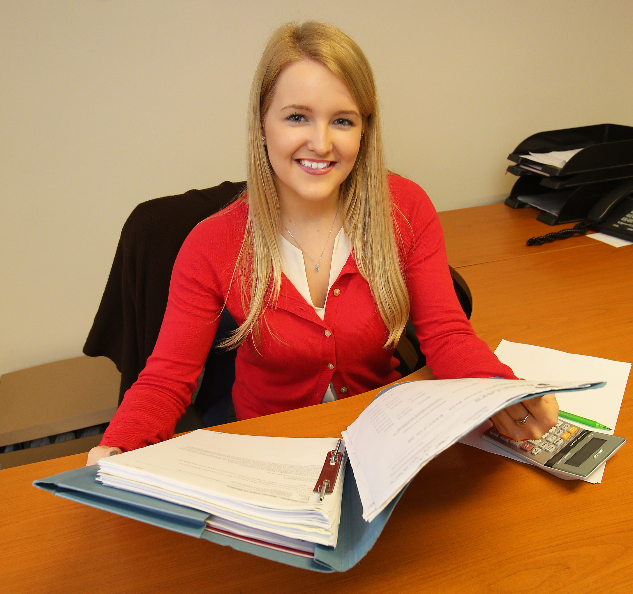 Lucy White, 19, is an apprentice accountant
