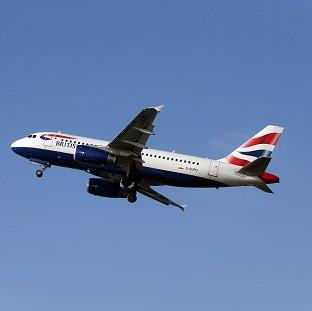 A British Airways Airbus A319 was involved in the incident