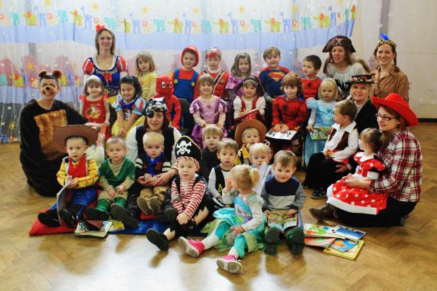 Staff and tots dressed up for World Book Day