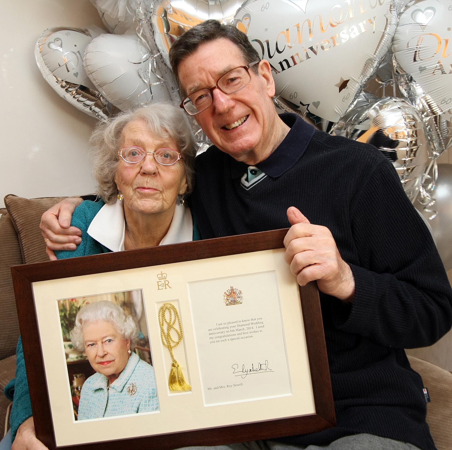 Roy and Mavis Sewell are celebrating 60 years of marriage