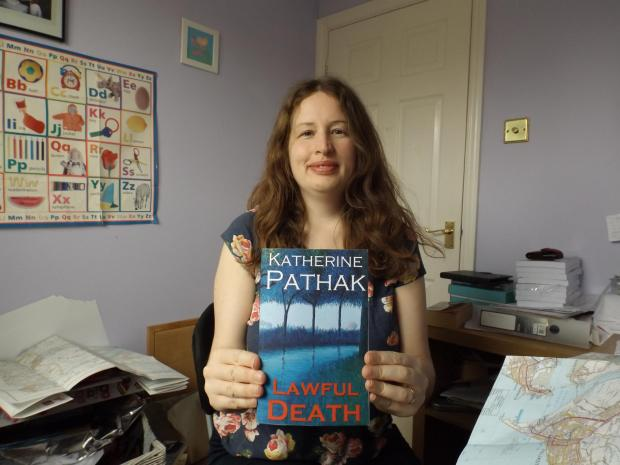 Katherine Pathak and her latest book, A Lawful Death