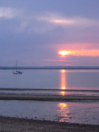 Bradwell Beach at sunset, taken by Rachel Briggs